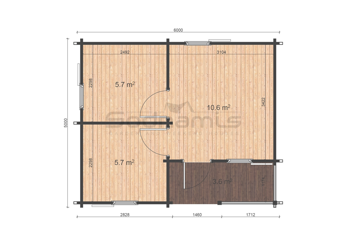 Veronica 5x6 floor plan